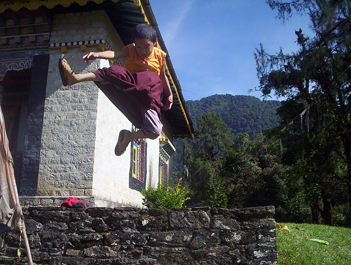 flying monk