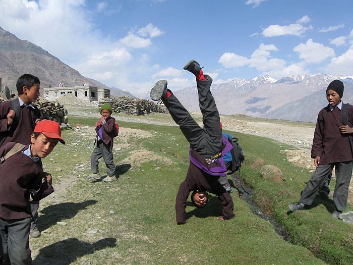 children in zanskar
