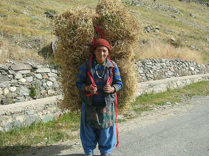 woman in zanskar