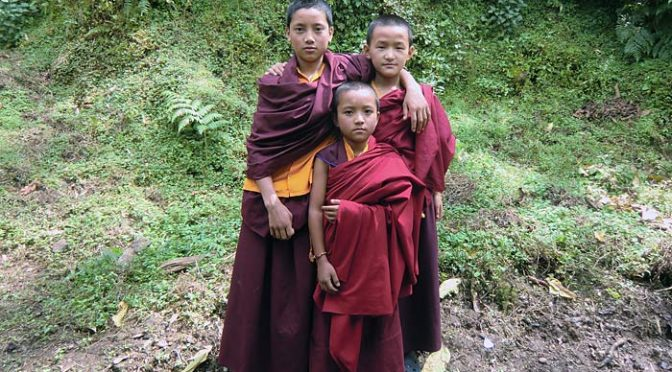 monks in Sikkim