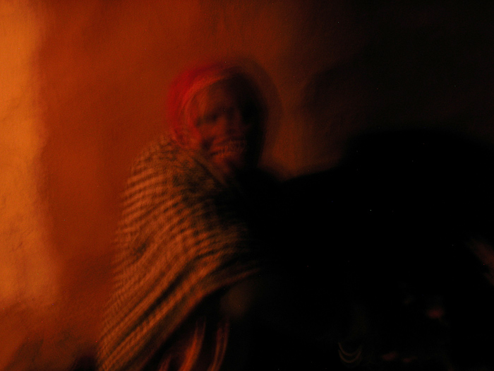 blurred lady in Rajasthan