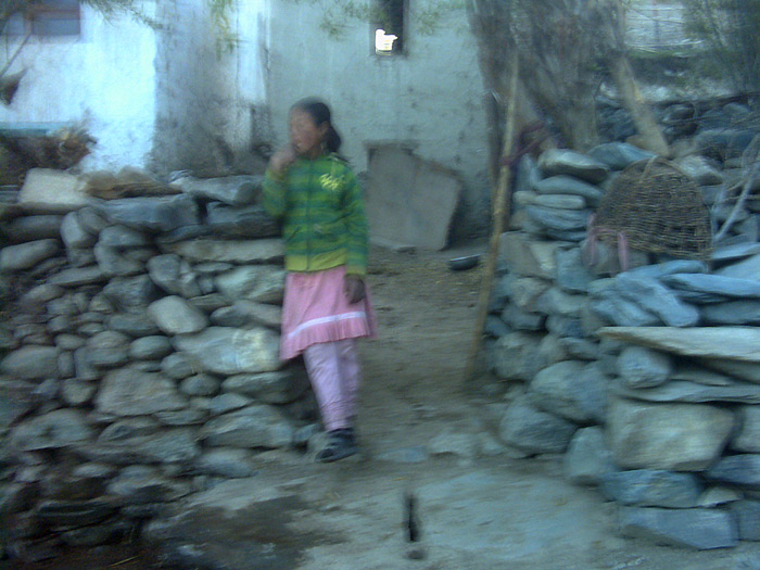 blurred girl in Zanskar