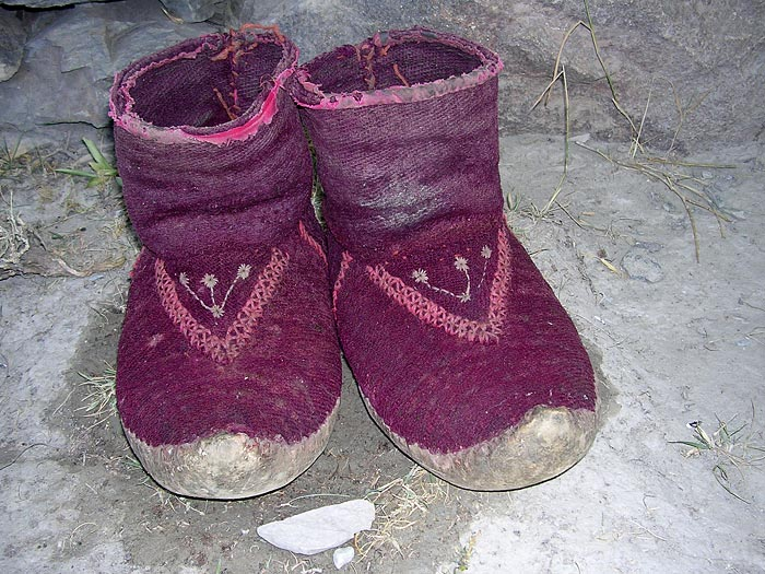 shoes in Zanskar