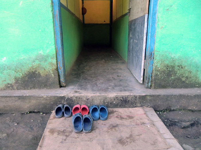 shoes in front of the door in Sikkim