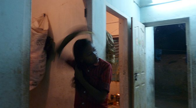 girl in house in Kerala