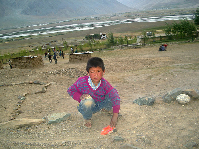 boy playing with his toy in Zanskar