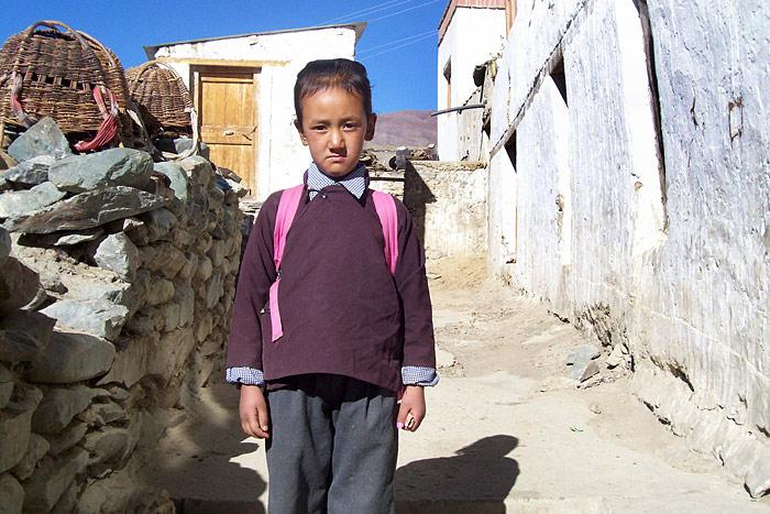 schoolgirl in Zanskar