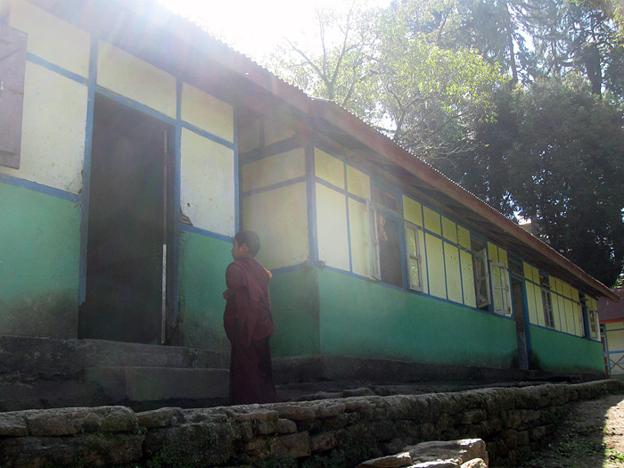 school cum hostel for boymonks in dubdi/sikkim