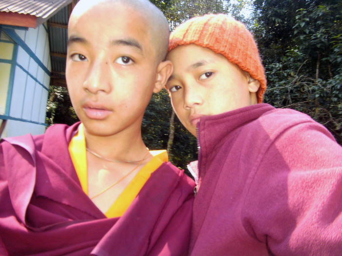 selfie with friend in Sikkim