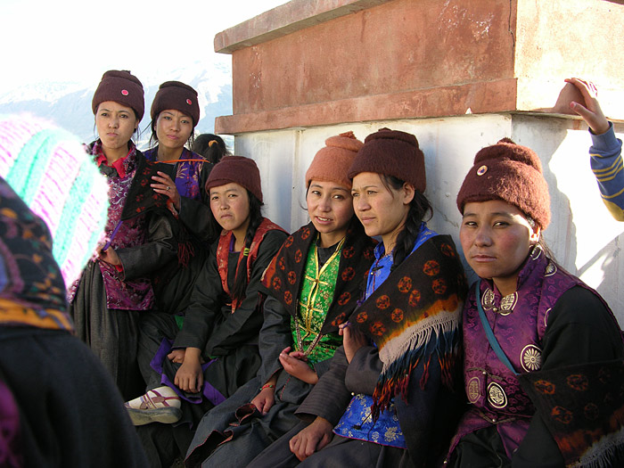 girls at a wedding in Zanskar