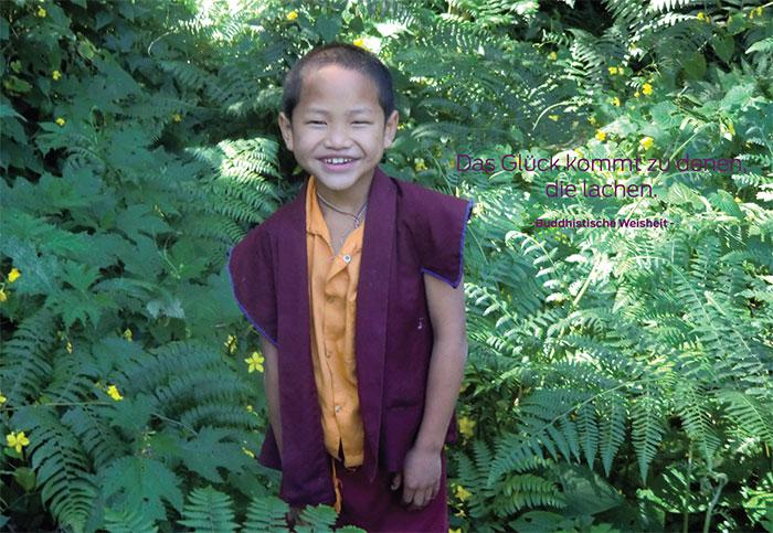 Spruchpostkarte Sikkim
