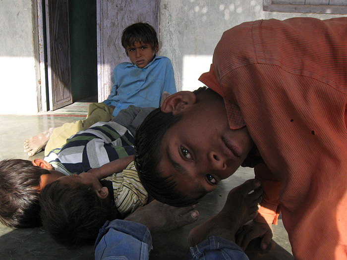 boys in Rajasthan