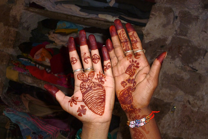 mehndi hands in Rajasthan