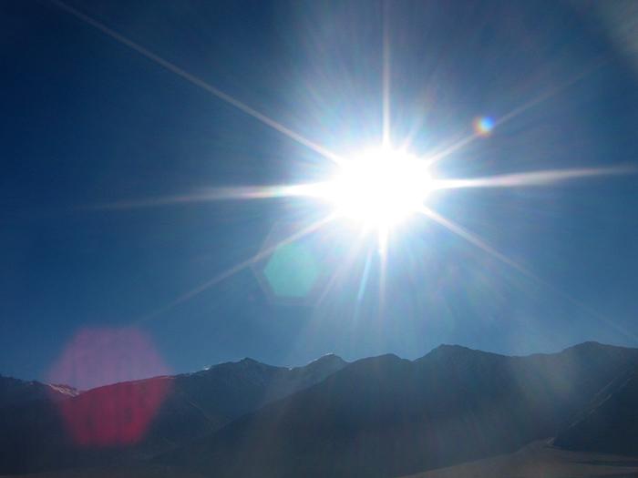 sun in Zanskar