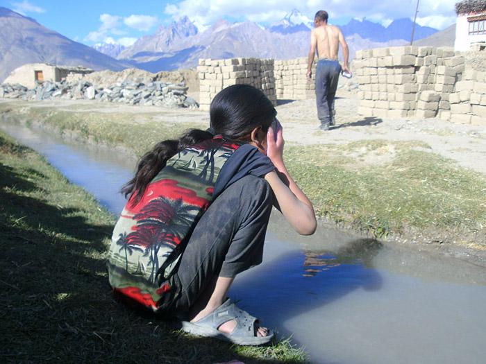 washing in Zanskar