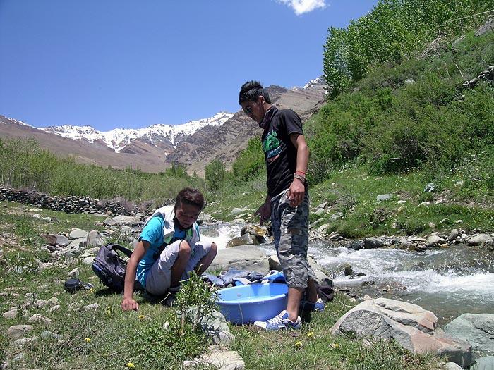 laundry in Zanskar