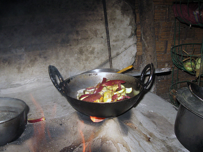 cooking in Sikkim