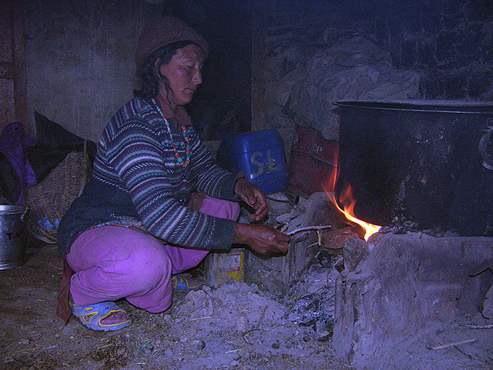 cooking in Zanskar
