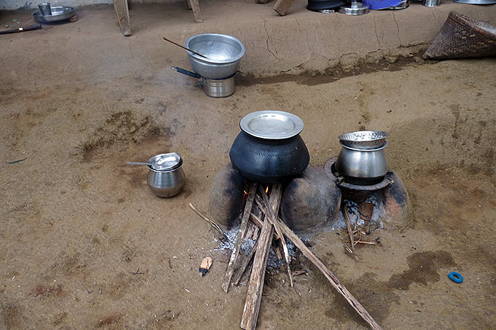 cooking-area in Kerala