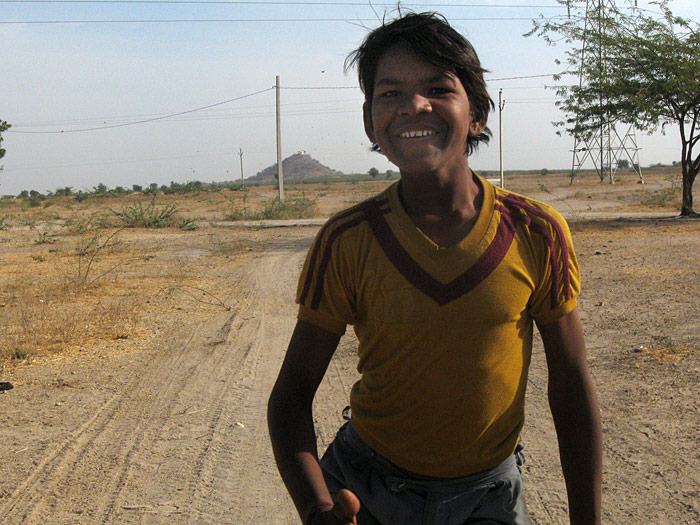 laughing boy in Rajasthan