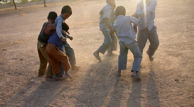 playing boys in Chandelao/Rajasthan