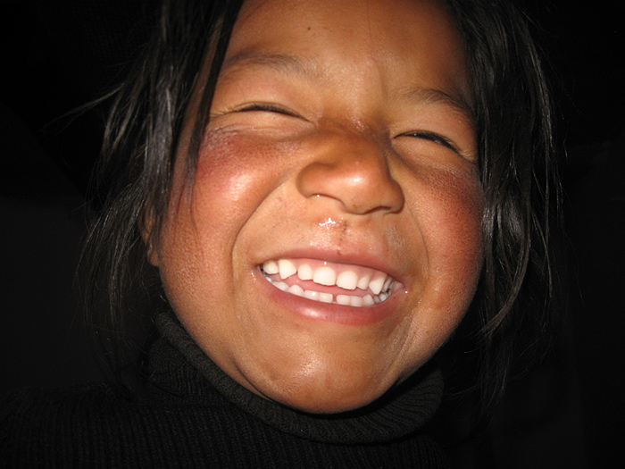 laughing girl in Zanskar