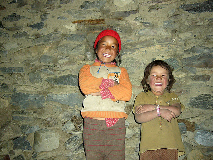 laughing children in Zanskar