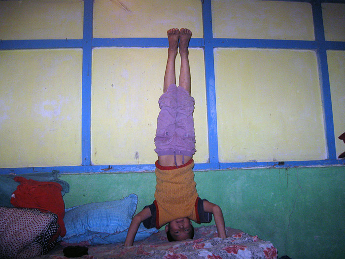 headstand in Sikkim