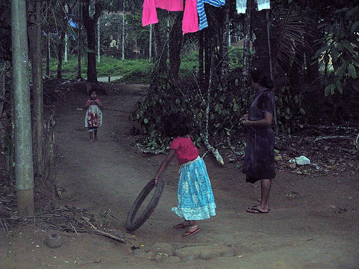 playing children in Mothakkara/Kerala