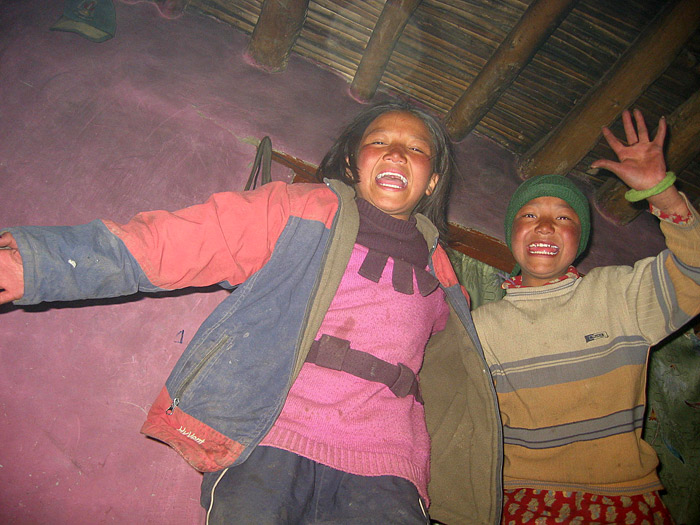 laughing girls in Zanskar