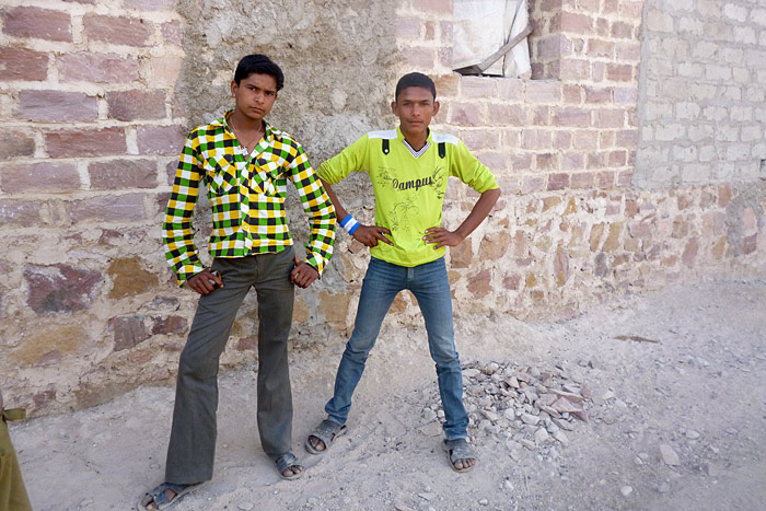 boys in Chandelao/Rajasthan