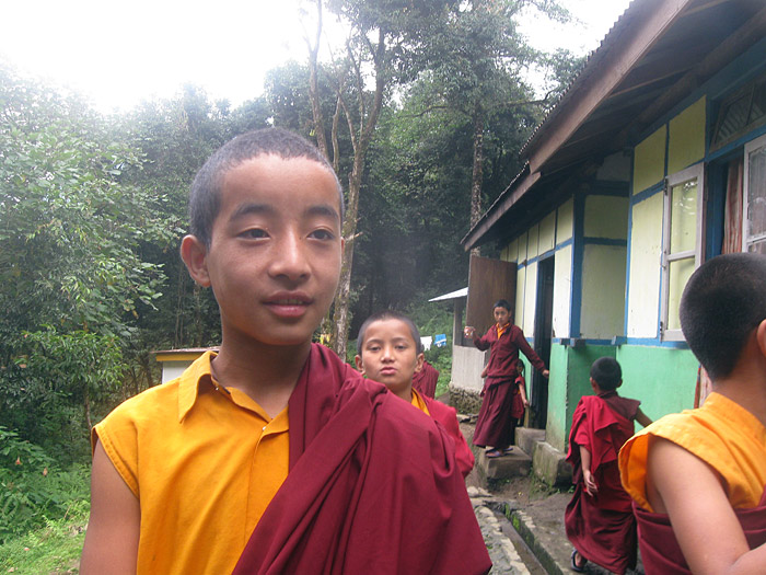 boy monks in Sikkim