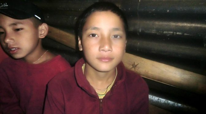 boy monk in Sikkim