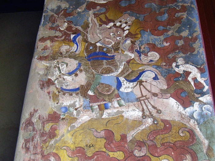 buddhist wallpainting in Sikkim