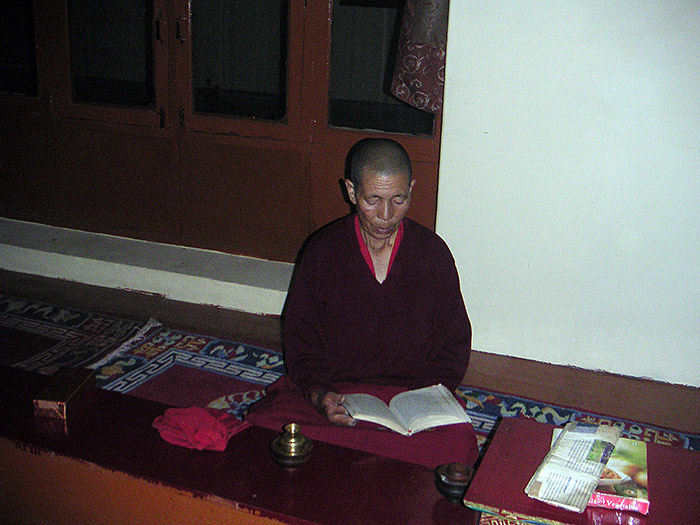 reading nun in Ladakh