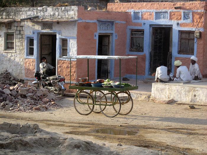 vegetable cart in Rajasthan