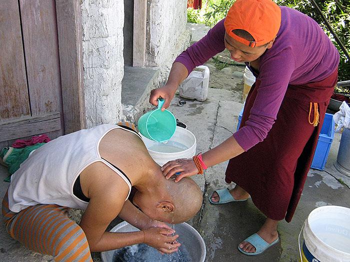 hairwash in Ladakh