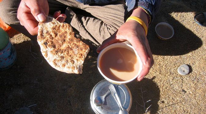 tea and bread in Zanskar