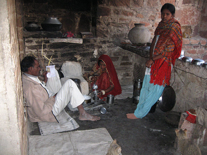 outside kitchen in Rajasthan