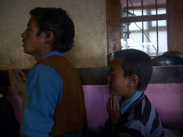 prayer in Zanskar
