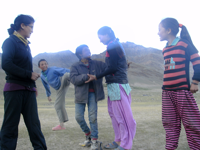 dancing in Zanskar