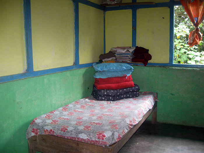 bed in hostel in Sikkim