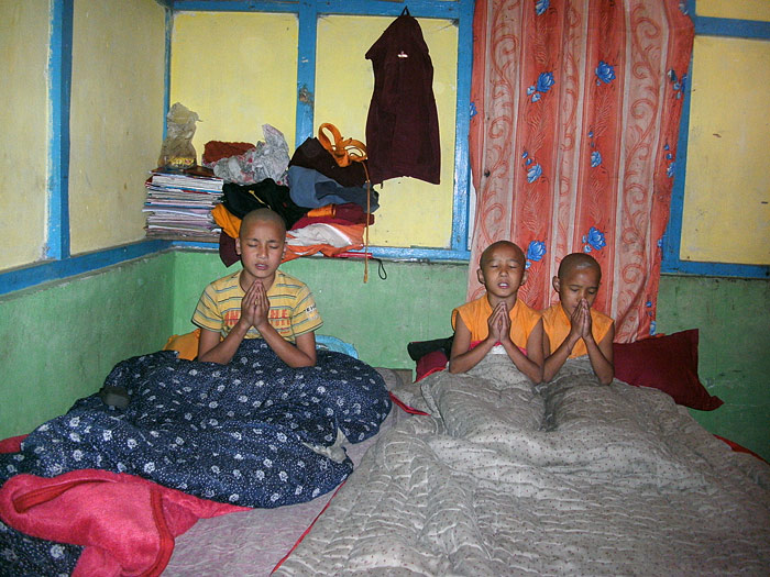 bed prayer in Sikkim
