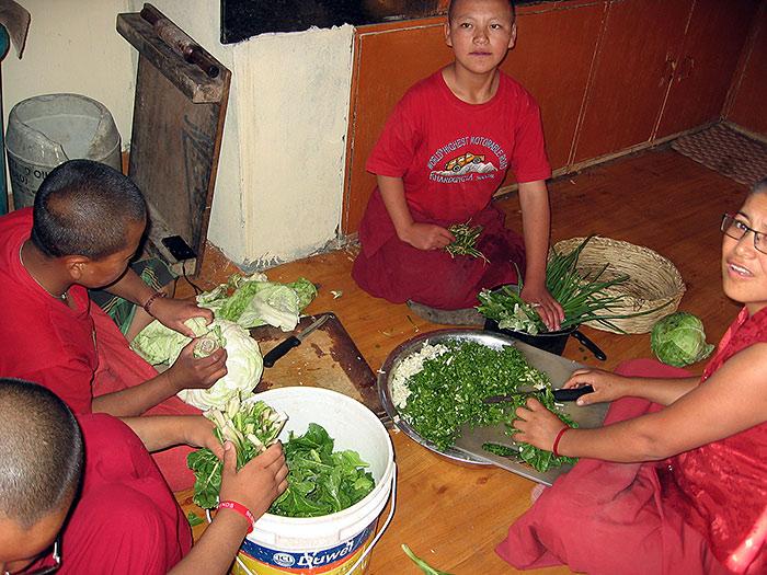 preparing the meal in Ladakh